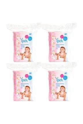 İpek Bebek Temizleme Pamuğu 60'lı % 100 Saf Pamuk 4 Adet