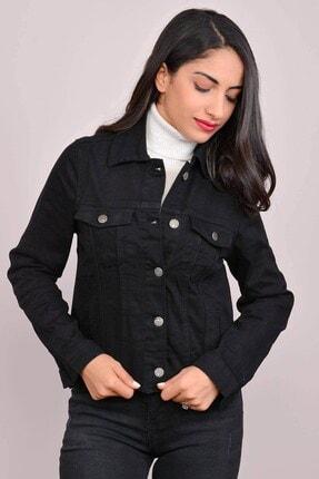 Mossta Kadın Siyah Likralı Kısa Kot Ceket