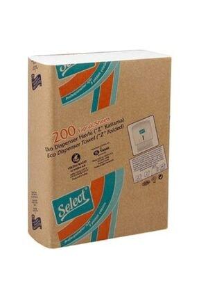 SELECT Z Katlamalı Dispenser Çek Al Kağıt Havlu 200 lü X 5 Paket Toplam 1000 Adet Havlu