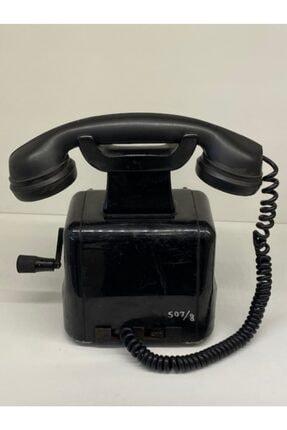 Antik Siyah Çevirmeli Telefon