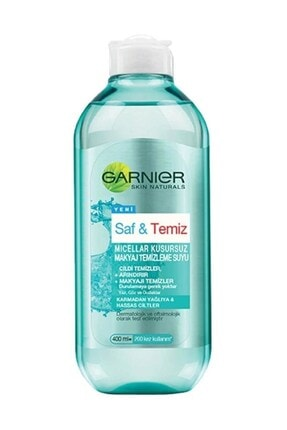 Garnier Saf ve Temiz Micellar Kusursuz Makyaj Temizleme Suyu 400 ml