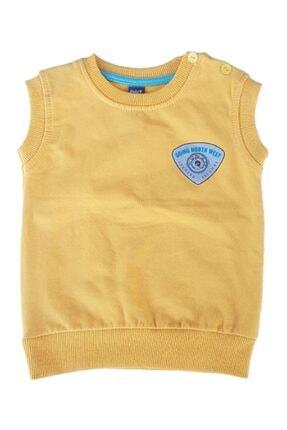 Hippo Erkek Çocuk Sarı Şardonlu Sıfır Kol Süveter