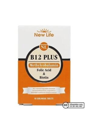 New Life Newlife B12 Plus - 60 Dilaltı Tablet - B12 Vitamini, Folik Asit Skt:12.2022