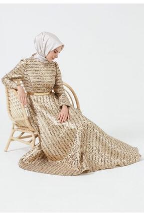 Setrms Kadın Kahve Jakarlı Abiye