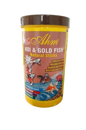 Ahm Koi Goldfish Colour Sticks Balık Yemi 1000 Ml