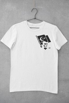 Tshigo Unisex Çocuk Beyaz Kalbimdeki Atatürk Tişört