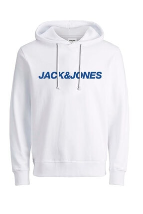 Jack & Jones Erkek Beyaz Vibe Sweat Hood Ka Sweatshirt 12191178-01