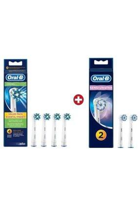 Oral-B Diş Fırçası Yedek Başlığı Cross Action 4'lü+sensi Ultra2'li