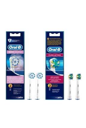Oral-B Diş Fırçası Yedek Başlığı Sensi Ultrathin 2'li+floss 2'li