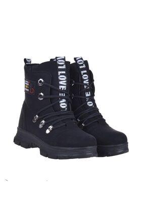 Twingo 7015 Siyah Zümrüt Kışlık Kız Çocuk Bot Ayakkabı
