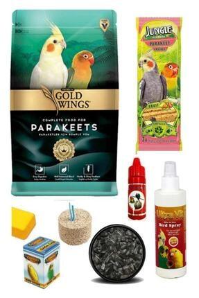 Gold Wings Paraket, Sultan, Cennet Papağanı Yem Ve Bakım Seti