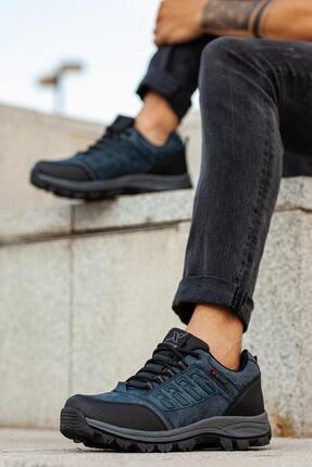 MUGGO Erkek Lacivert Su Soğuk Geçirmez Outdoor Ayakkabı