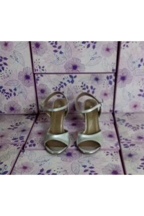 NİCE Kadın Gümüş Gri Milango Dans Ayakkabısı