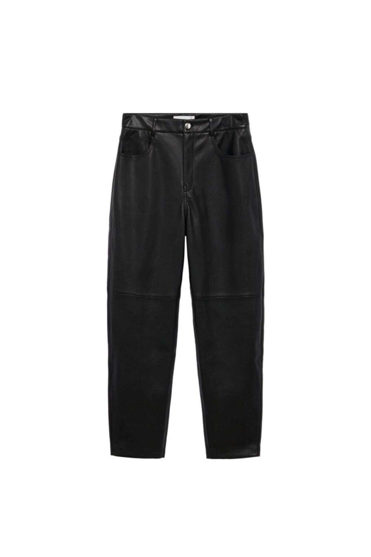 MANGO Woman Kadın Siyah Pantolon 2