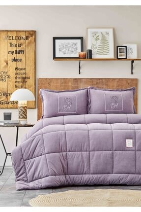 Karaca Home Toffee Lila Çift Kişilik Cotton Comfort Set