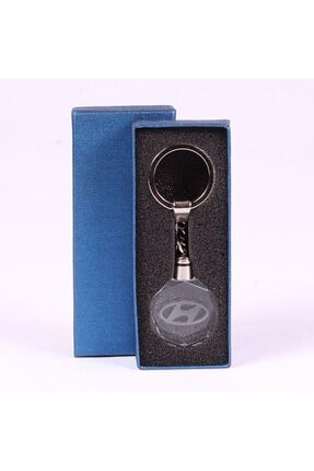 aydpromosyon Hyundai Logolu 3d Kristal Led Işıklı Özel Kutulu Anahtarlık