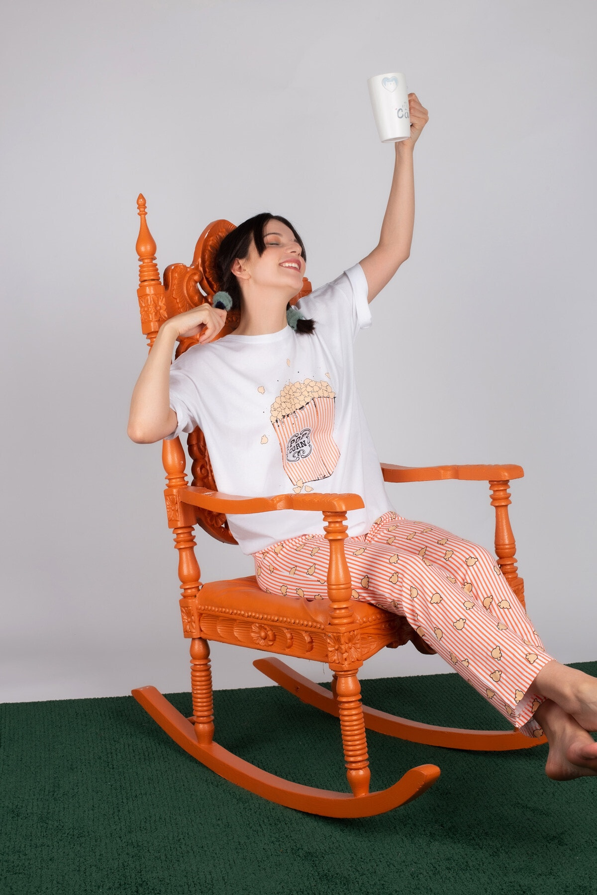 Hays Kadın Pembe Pamuklu Uzun Pijama Takımı 1