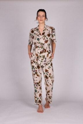 Hays Kadın Bej Vegan Uzun Pijama Takımı