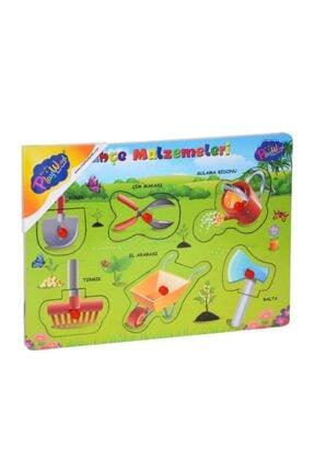 Play Circle Ahşap Tutmalı Bahçe Malzemeleri Puzzle