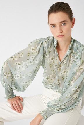 Koton Kadın Yeşil Desenli Tunik 1KAK68725CW