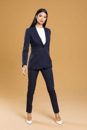 Belissi Kadın Açık Lacivert Ofis Takım Elbise