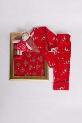 Hays Kız Çocuk Kırmızı Pijama Takımı