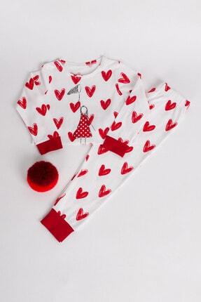 Hays Kız Çocuk Kırmızı Uzun Pijama Takımı