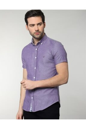Tudors Slim Fit Kısa Kol Spor Erkek Gömlek