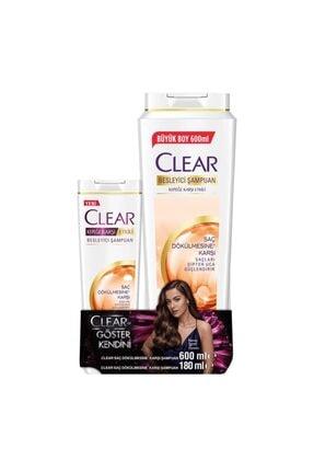Clear Saç Dökülmesine Karşı Şampuan 600ml+180ml