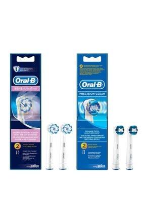 Oral-B Diş Fırçası Yedek Başlığı Sensi Ultrathin 2'li+precision 2'li