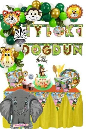 Fixman Mercansüs Safari Temalı Lüks Doğum Günü Parti Seti
