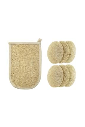 Balmy Naturel Kabak Banyo Eldiveni Ve 6 Adet Peeling Disk