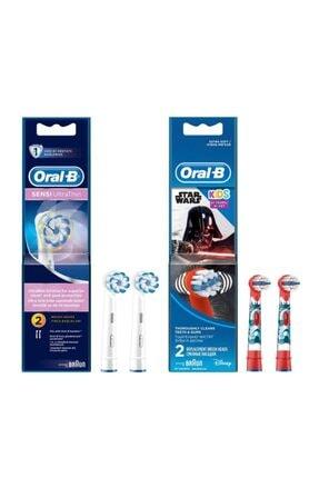 Oral-B Diş Fırçası Yedek Başlığı Sensi Ultrathin 2'li+starwars 2'li