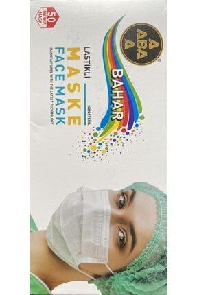 Bahar Beyaz Melthblown Burun Telli Ce Ve Iso Belgeli 3 Katlı Tek Kullanımlık Maske 100 Adet