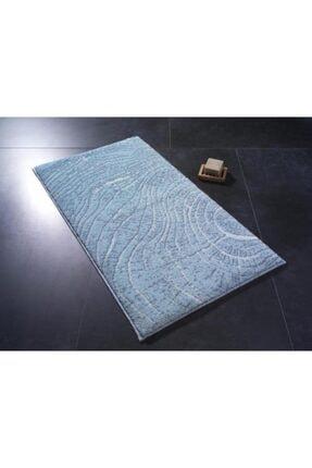 Confetti Lumber 50x57 Mavi Banyo Halısı