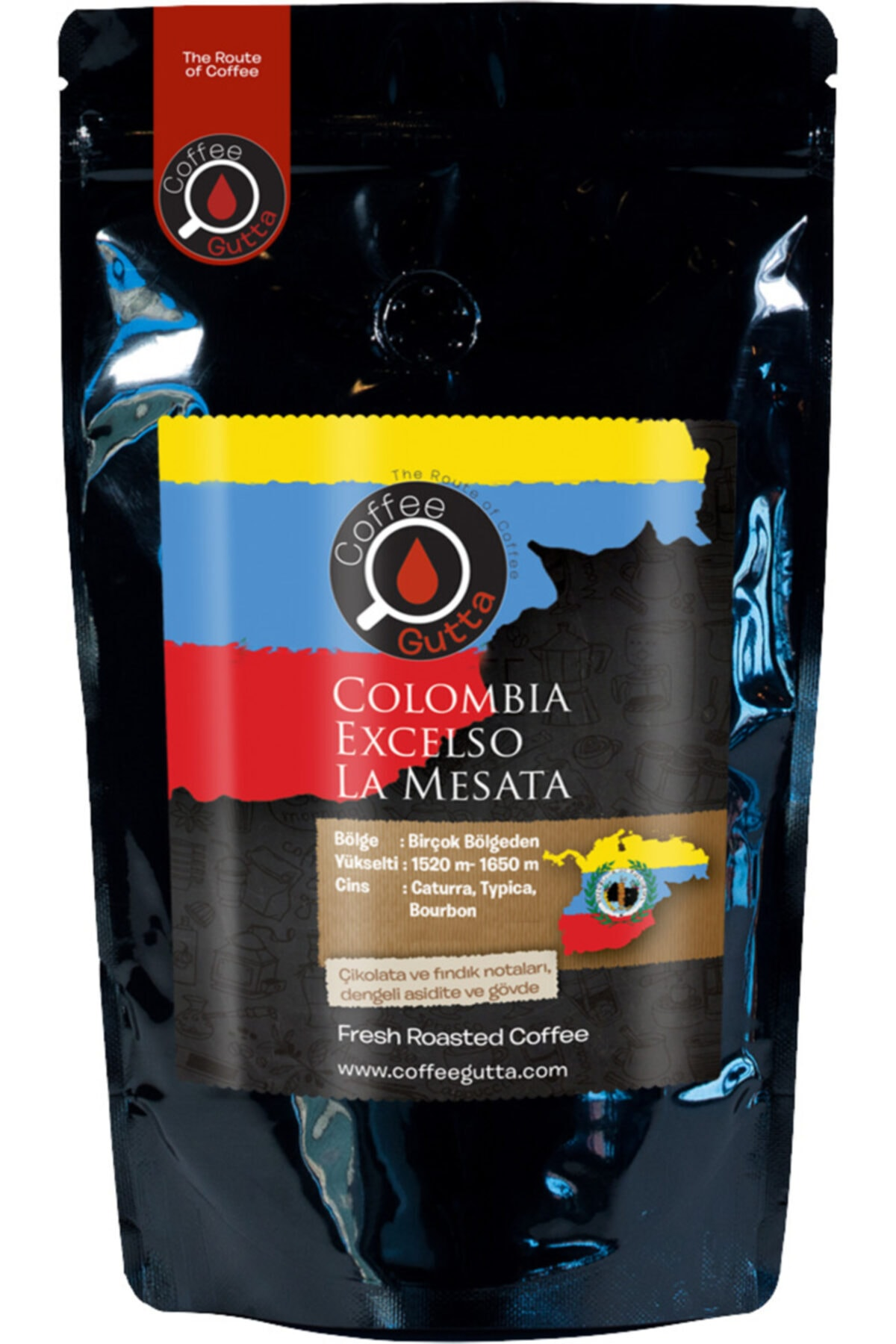 Coffee Gutta Colombia Excelso Filtre Kahve 250gr | French Press Için Öğütülmüş 1