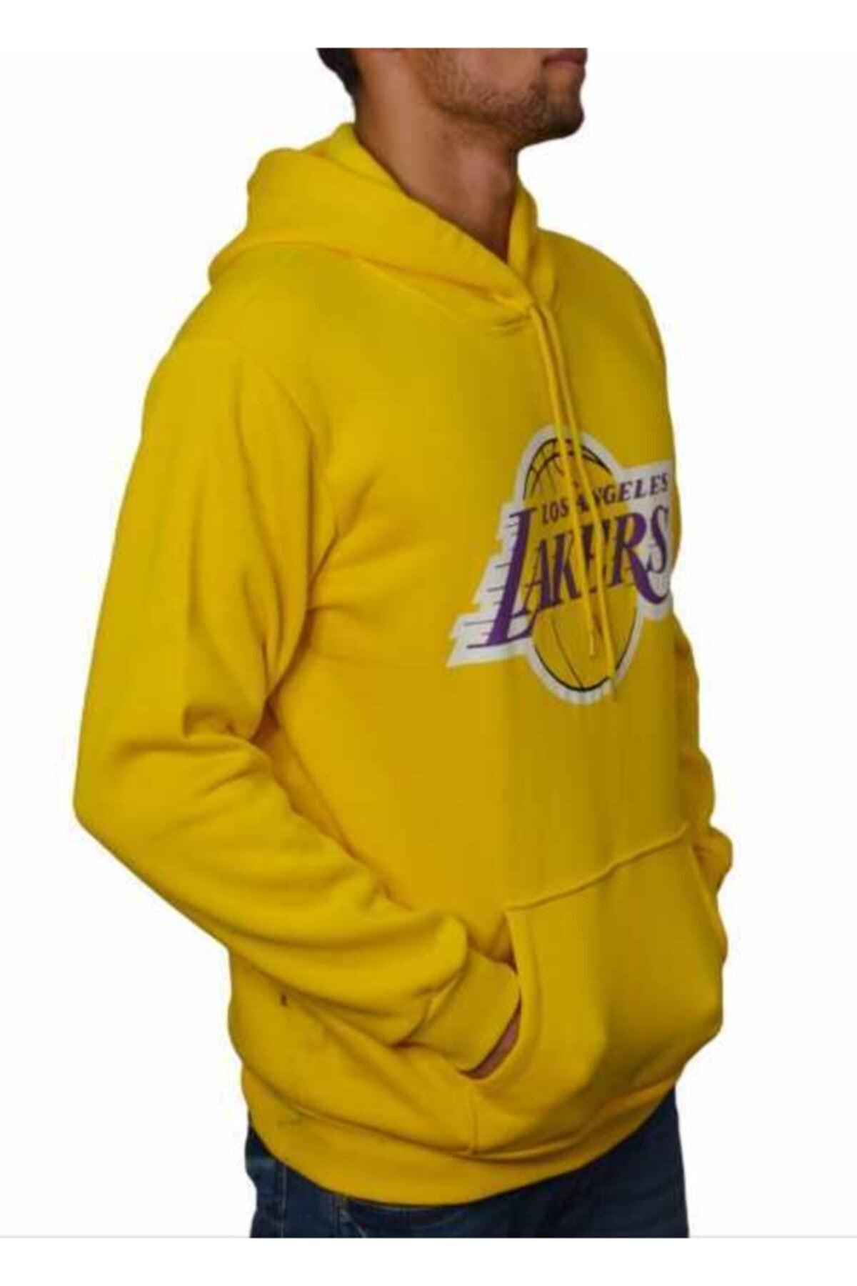 YOUWINNER Erkek Sarı Kapüşonlu Sweatshirt 2