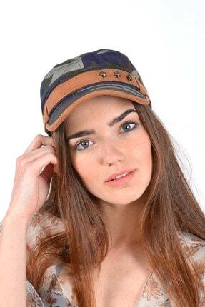 Mossta Unisex Haki Kamuflaj Şapka