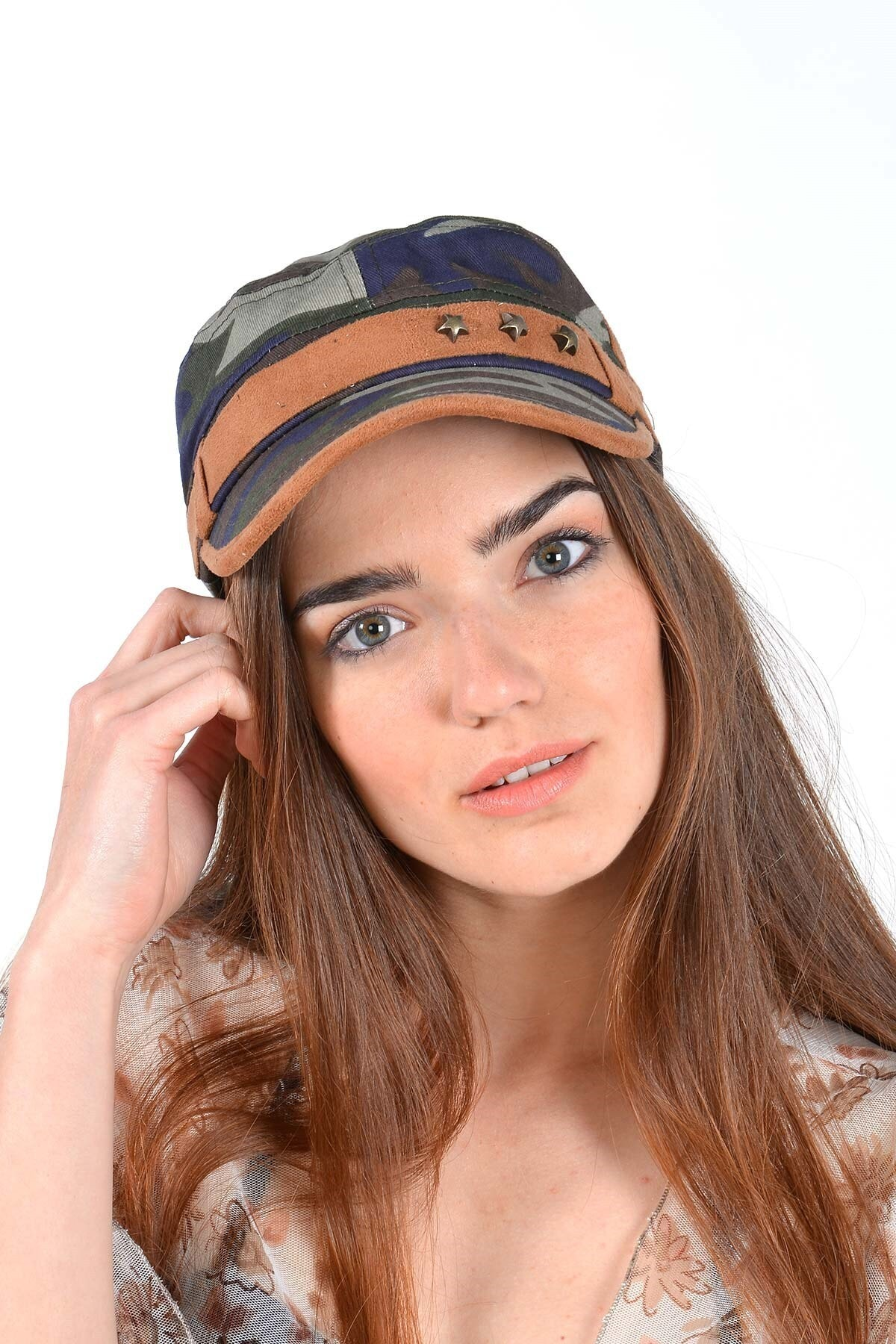 Mossta Unisex Haki Kamuflaj Şapka 1