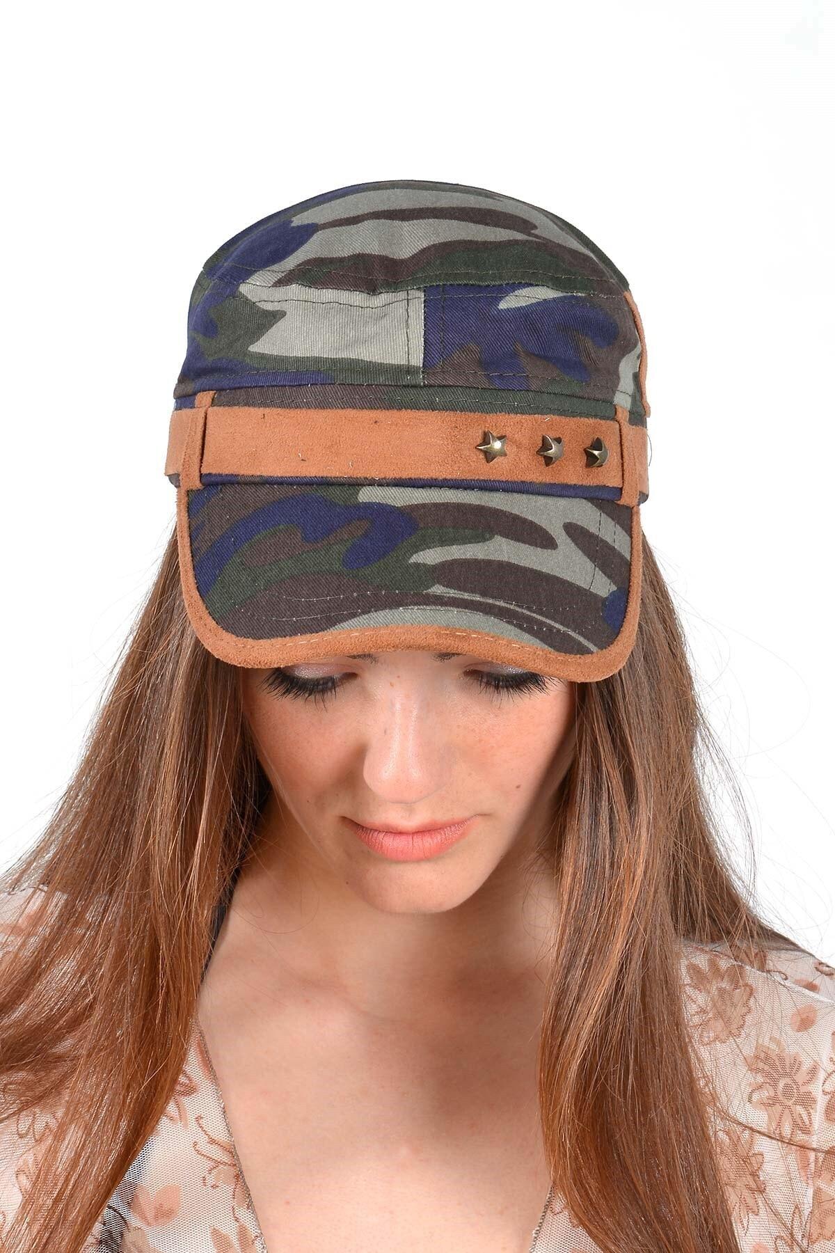 Mossta Unisex Haki Kamuflaj Şapka 2