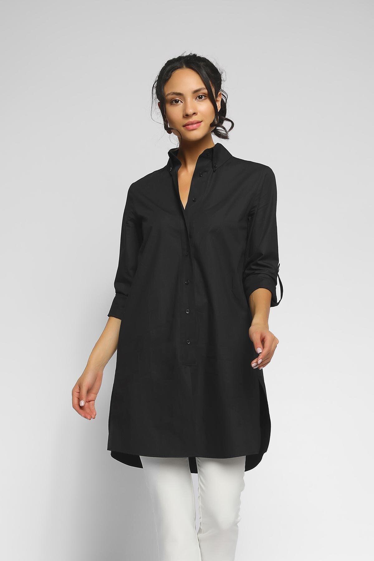 Happysoul Kadın Siyah Tunik  Gömlek 1