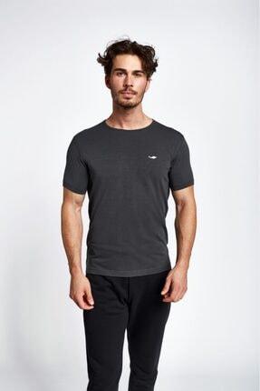 Lescon Erkek Gri Kısa Kollu T-shirt 19s-1227-19b