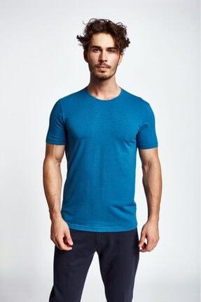 Lescon Erkek  Mavi Kısa Kollu T-Shirt 19s-1227-19b
