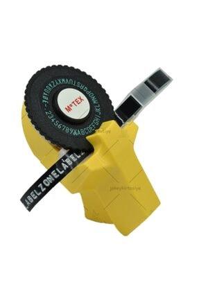 Motex Kabartma Yazı Yazma Ve Etiketleme Makinası + Şerit 9mm*2metre (sarı)