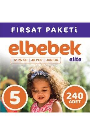 ELBEBEK ELİTE Bebek Bezi 5 Numara Junıor 240 Adet