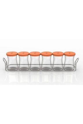 Paşabahçe Zest Glass 6'lı Baharatlık Seti Turuncu