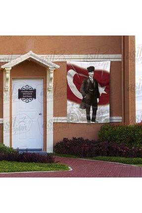Asilmeydan Kalpaklı - Sivil Gazi Mustafa Kemal Atatürk - Ay Yıldız - Türk Bayrağı Poster - Bayrak 100x150 Cm