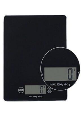 Gomax 1 Gr-5 Kg A Kalite Lüks Dijital Ekranlı Siyah Cam Hassas Elektronik Mutfak Terazisi-tartısı