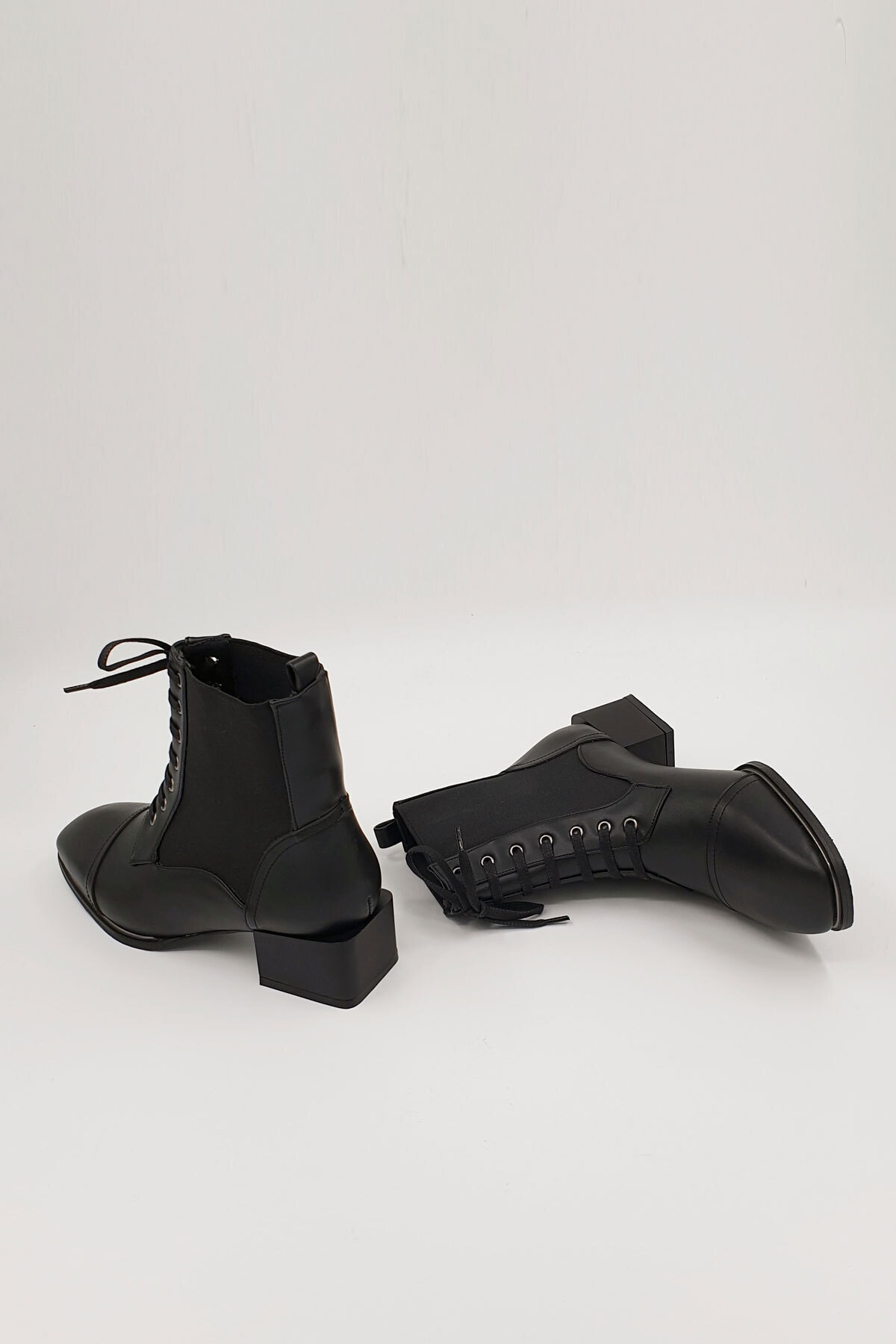 Marjin Kadın Siyah Covel Topuklu Bot 1