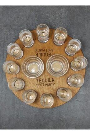 MicroWood Tekila Sunum Tepsisi, Tekila Shot Party, Tekila Bardağı